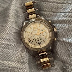 Clear and gold Michael kors watch
